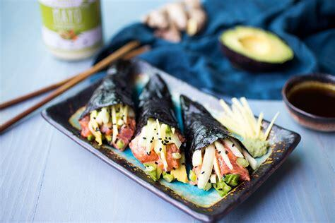 Paleo No Rice Spicy Tuna Rolls